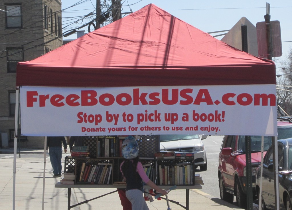 Jersey City Free Books popup table