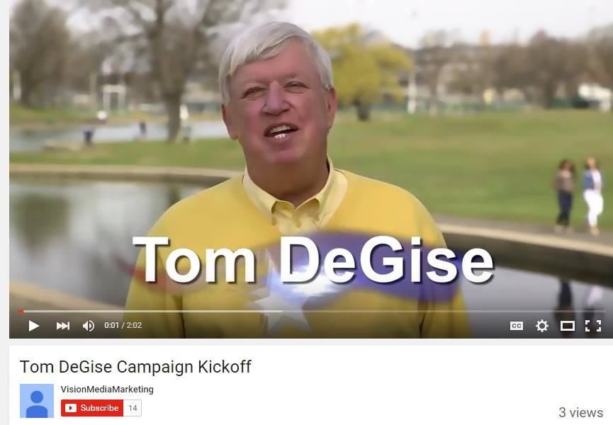 Hudson County Executive Tom DeGise campaign Youtube only has 3 views after over a year!