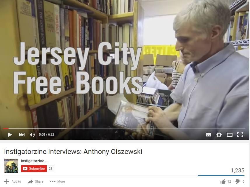 Anthony Olszewski -- Jersey City Free Books